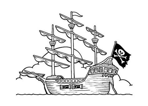 Pirate Ship Coloring Page by Pirate Ship Coloring Pirate Ship On Anchor Coloring Page