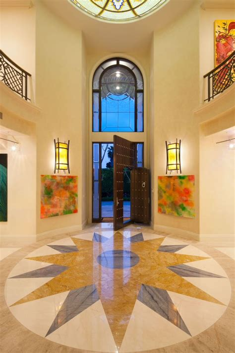 uplifting mediterranean entry hall designs