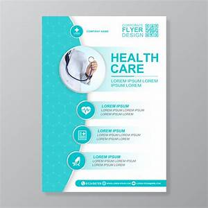 Resume Clinic Healthcare Cover A4 Template Design And Flat Icons For A