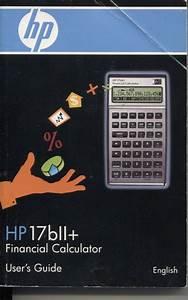 Hp 17bll  Financial Calculator User U0026 39 S Guide