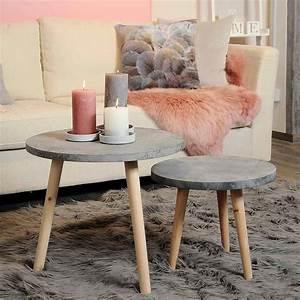 Möbel Aus Kiefernholz : beistelltisch in betonoptik aus kiefernholz d 50cm x h 42cm grau depot de ~ Sanjose-hotels-ca.com Haus und Dekorationen