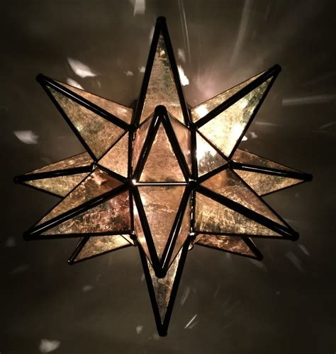 glass moravian star wall sconce custom metal lighting
