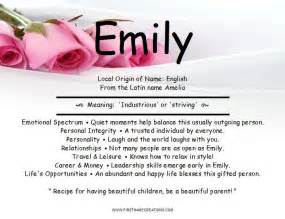 Name Emily Meaning