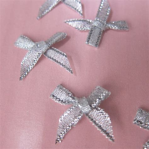 100 bows silver mini bows small bows by amadeuscouturesupply