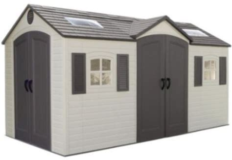 Lifetime 15x8 Garden Shed by Lifetime Garden Storage Shed 60079 15 X 8 Foot Dual Entry