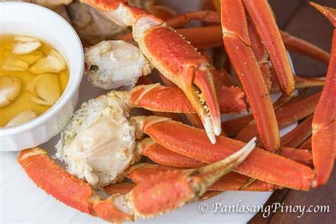 how 2 cook crab legs steamed snow crab legs recipe panlasang pinoy