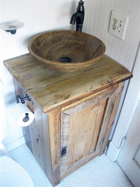 custom  sink vanity   reclaimed lumber