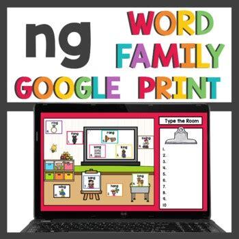 ng word family  teaching superkids teachers pay teachers