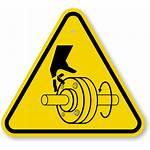 Rotating Symbol Cutting Shaft Iso Fingers Warning