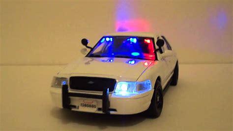 crown vic led light bar custom 1 24 crown vic police car with custom light bars