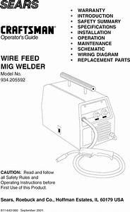 Century 117 084 002 User Manual Wire Feed Welder Manuals