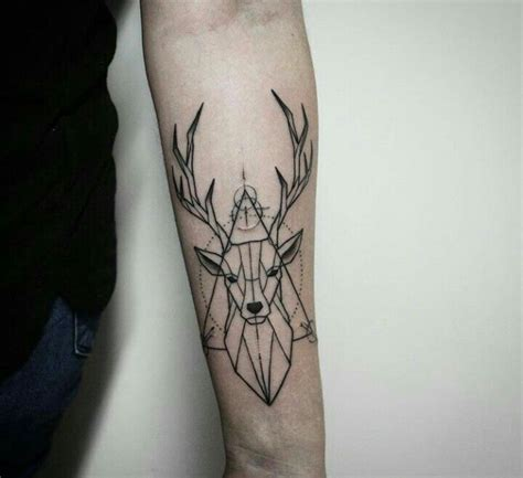 Geometric Deer Tattoo  Tattoos  Pinterest  Deer, Deer