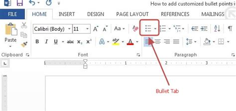 how to add customized bullet graphics in word 2013