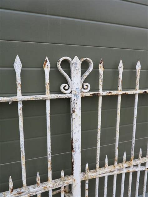 pair  antique wrought iron driveway gates