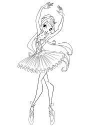 balerina kolorowanki  druku