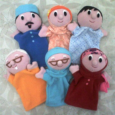 Boneka Jari Keluarga buatan tsabita boneka boneka tangan keluarga muslim halfbody