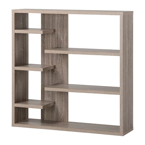 home depot canada decorative shelves homestar 6 shelf storage bookcase in reclaimed wood the