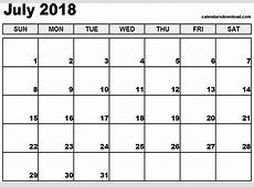 Desktop Wallpapers Calendar July 2018 ·①