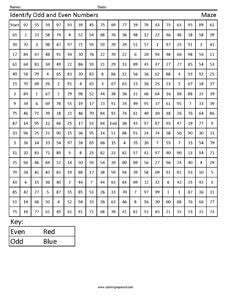 Free Math Worksheets Odd And Even Numbers