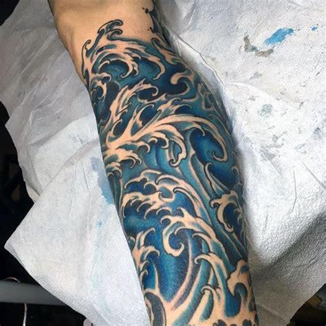 japanese wave tattoo designs  men oceanic ink ideas