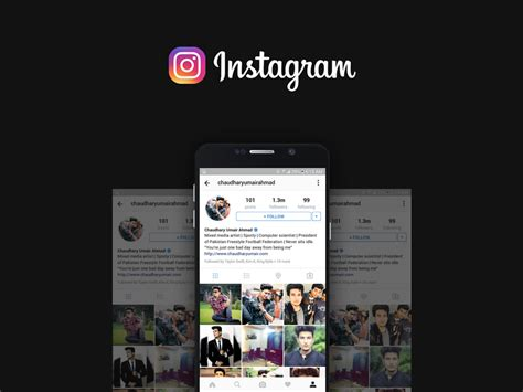 Instagram Mockup Instagram Profile Mockup Freebie Photoshop