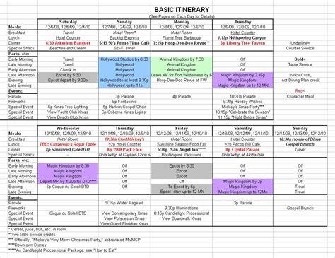 itinerary template basic 2017 december disney world itinerary disney trips vacation and disney vacations