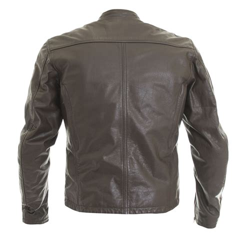 wolf spirit leather jacket blackbrown leather