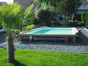 Piscine Rectangulaire Tubulaire Pas Cher : terrasse avec piscine hors sol piscine hors sol bois ~ Dailycaller-alerts.com Idées de Décoration