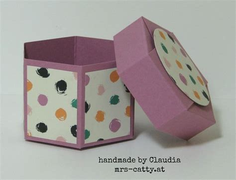 geschenkbox selber basteln anleitung anleitung sechseckbox mit deckel su verpackungen box basteln schachtel basteln und