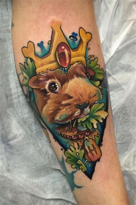 guinea pig king tattoo inkstylemag