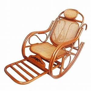 Siege A Bascule : naturel bambou rotin osier rocking chair chaise bascule fauteuil bascule longue ~ Teatrodelosmanantiales.com Idées de Décoration