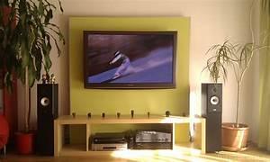 Fernseher An Die Wand : tv wand plasma plasmadisplay tv wand hifi bildergalerie ~ Bigdaddyawards.com Haus und Dekorationen