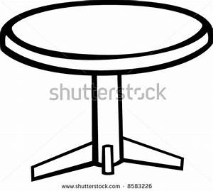 Round Table Clipart Black And White | Clipart Panda - Free ...