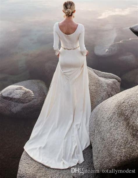 Long Sleeves  Ee  Modest Ee    Ee  Wedding Ee   Beaded Belt