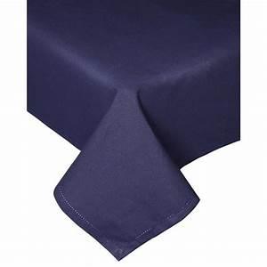 Nappe Bleu Marine : nappe bleu marine 100 coton 138 x 220 cm homescapes ~ Teatrodelosmanantiales.com Idées de Décoration