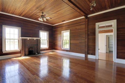refinish  refresh  interior wood paneling