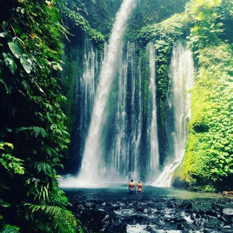 Sendang Gile And Tiu Kelep Waterfall Senaru Indonesia