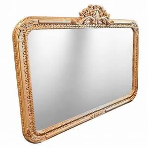 Grand Miroir Baroque : grand miroir baroque rectangulaire de style louis xv rocaille ~ Teatrodelosmanantiales.com Idées de Décoration