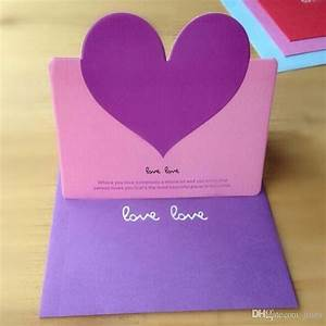 Heart, Shape, Birthday, Greeting, Cards, With, Envelope, Cards