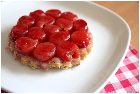 tarte tatin aux cerises recette gourmandiseries
