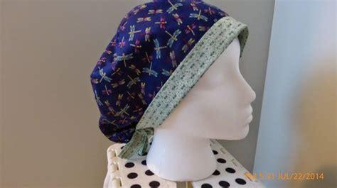dragonfly scrub hat  fold  brim tie