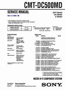 Sony Cmt-dc500md  Hcd-j300 Service Manual