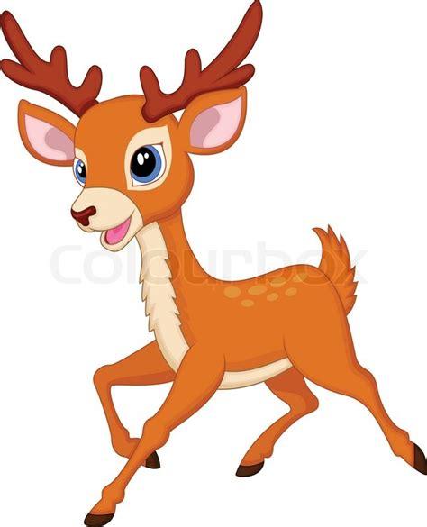 vector illustration  cute deer stock vector