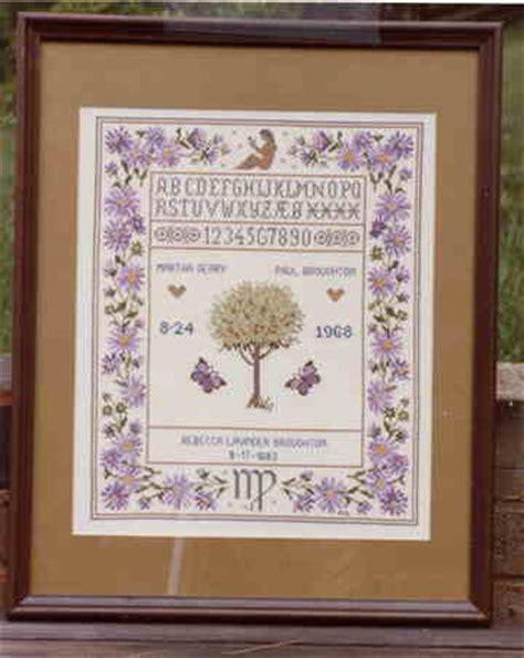 counted cross stitch zodiac wedding sampler