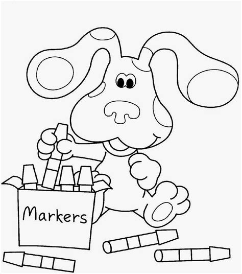 nice blues clues coloring pages  coloring pages