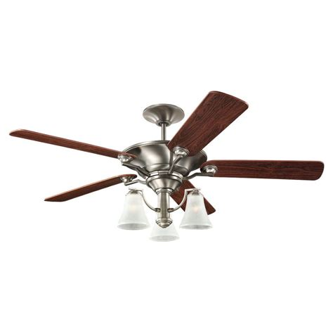 home depot 52 inch ceiling fans sea gull lighting 52 inch indoor antique brushed nickel