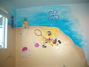 spongebob squarepants themed room design home decorating With funny ideas spongebob wall decals room design