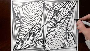 Doodle Sketching Optical Illusion Lines - Pattern 11 - YouTube