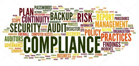 compliance  audit  word tag cloud stock photo