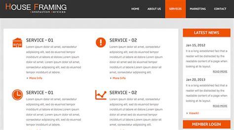 simple html5 template houseframing free responsive html5 template creative beacon